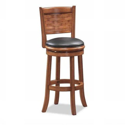 "Boraam 24"" Sumatra Swivel Stool - Brush Oak (41024) - BarstoolDirect.com"