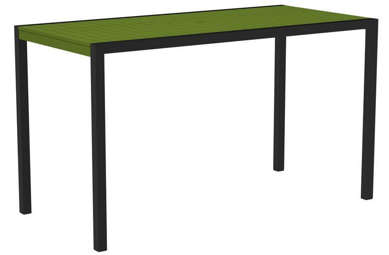Bar Table Textured Black Aluminum Frame Lime Mod 1199 Product Photo