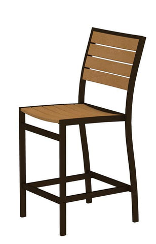 Polywood A101-16NT Euro Counter Side Chair in Textured Bronze Aluminum Frame / Plastique - PolyFurnitureStore