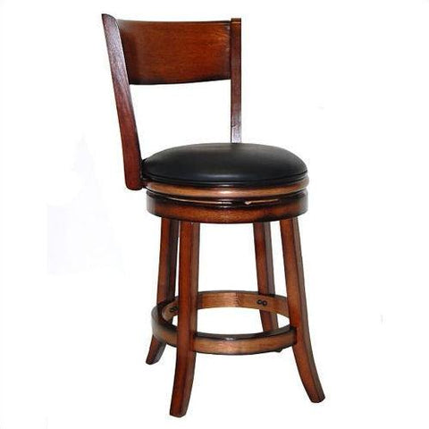 "Boraam 24"" Palmetto Swivel Stool - Chestnut  (43124) - BarstoolDirect.com"