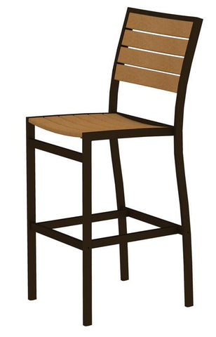 Polywood A102-16NT Euro Bar Side Chair in Textured Bronze Aluminum Frame / Plastique - PolyFurnitureStore