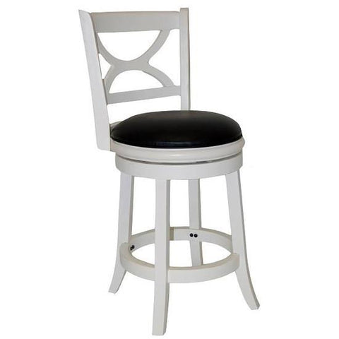 "Boraam 29"" Florence Swivel Stool - Distressed White (43729) - BarstoolDirect.com"