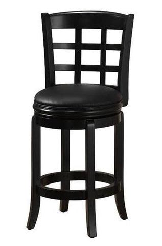 "Boraam 29"" Kyoto Swivel Stool - Black (45230) - BarstoolDirect.com"
