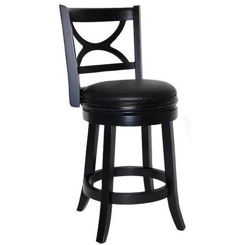 "Boraam 24"" Florence Swivel Stool - Black Sandthru (45724) - Peazz Furniture"