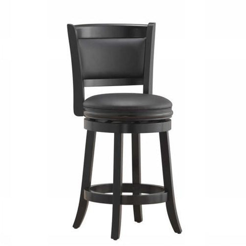 "Boraam 24"" Augusta Swivel Stool - Black (45824) - BarstoolDirect.com"