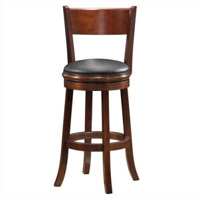 "Boraam 29"" Palmetto Swivel Stool - Walnut (47129) - BarstoolDirect.com"