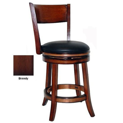"Boraam 24"" Palmetto Swivel Stool - Brandy (48124) - BarstoolDirect.com"