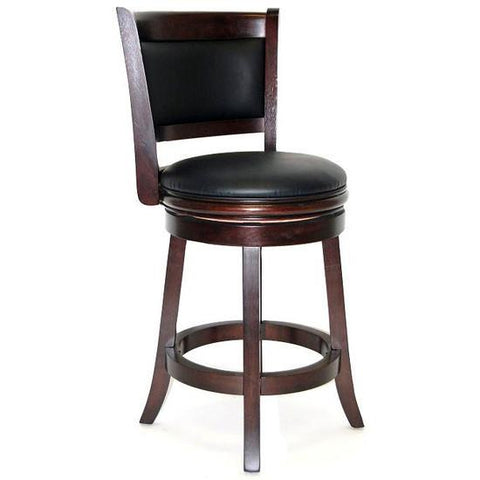 "Boraam 24"" Augusta Swivel Stool - Cappuccino (48824) - Peazz Furniture"