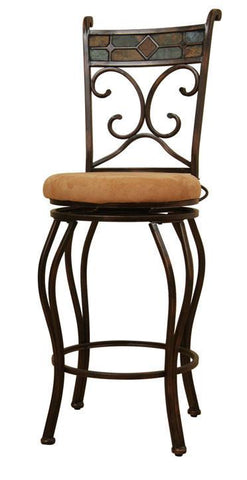 "Boraam 29"" Beau Swivel Stool - Black/Gold (80516) - Peazz Furniture"