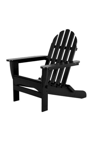 Polywood AD5030BL Classic Folding Adirondack in Black - PolyFurnitureStore