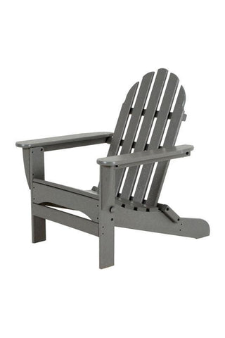 Polywood AD5030GY Classic Folding Adirondack in Slate Grey - PolyFurnitureStore