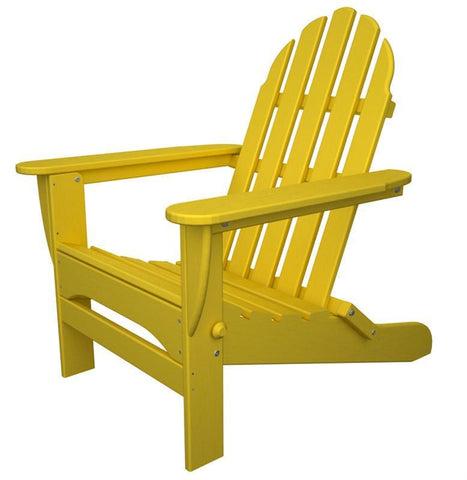 Polywood AD5030LE Classic Folding Adirondack in Lemon - PolyFurnitureStore