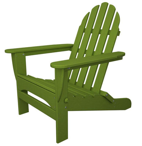 Polywood AD5030LI Classic Folding Adirondack in Lime - PolyFurnitureStore