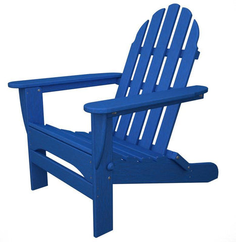 Polywood AD5030PB Classic Folding Adirondack in Pacific Blue - PolyFurnitureStore