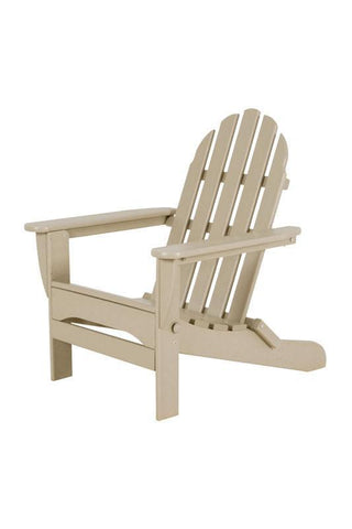 Polywood AD5030SA Classic Folding Adirondack in Sand - PolyFurnitureStore