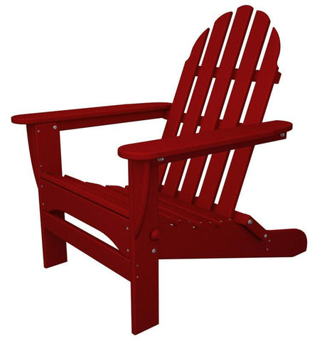 Polywood AD5030SR Classic Folding Adirondack in Sunset Red - PolyFurnitureStore