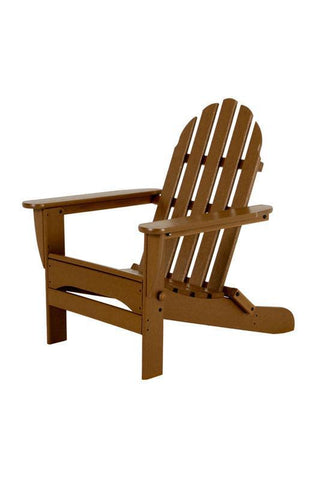 Polywood AD5030TE Classic Folding Adirondack in Teak - PolyFurnitureStore