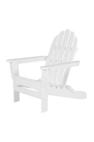 Polywood AD5030WH Classic Folding Adirondack in White - PolyFurnitureStore
