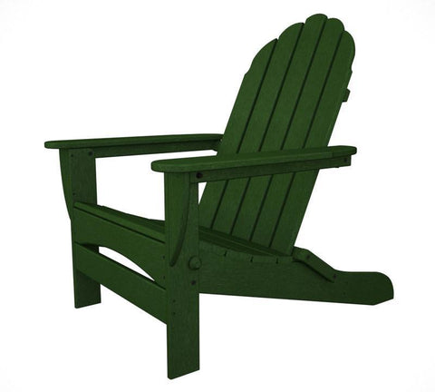 Polywood AD7030GR Classic Oversized Curveback Adirondack in Green - PolyFurnitureStore