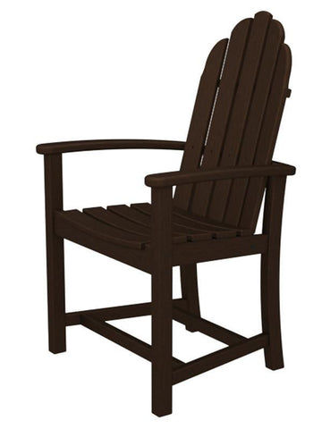Polywood ADD200MA Classic Adirondack Dining Chair in Mahogany - PolyFurnitureStore
