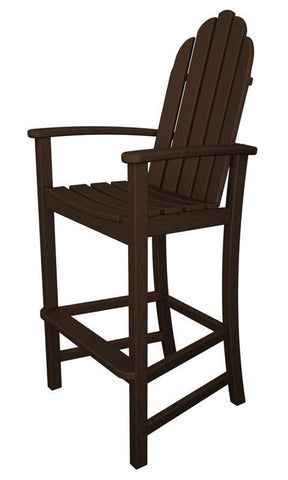 Polywood ADD202MA Classic Adirondack Bar Chair in Mahogany - PolyFurnitureStore