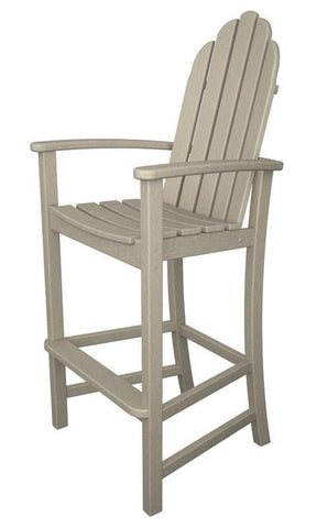 Polywood ADD202SA Classic Adirondack Bar Chair in Sand - PolyFurnitureStore