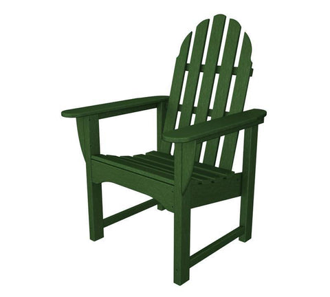 Polywood ADDC-1GR Classic Adirondack Casual Chair in Green - PolyFurnitureStore