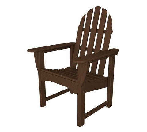 Polywood ADDC-1MA Classic Adirondack Casual Chair in Mahogany - PolyFurnitureStore