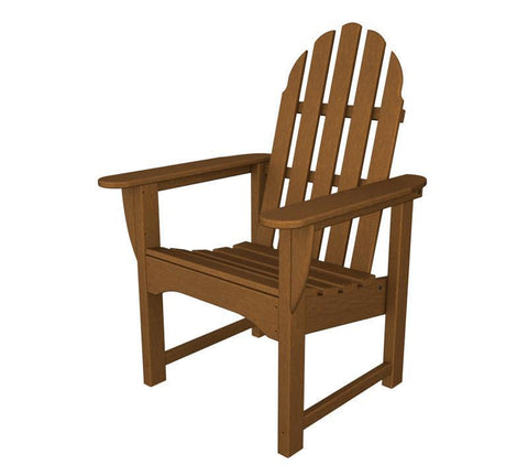 Polywood ADDC-1TE Classic Adirondack Casual Chair in Teak - PolyFurnitureStore