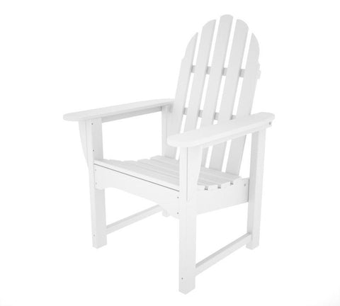 Polywood ADDC-1WH Classic Adirondack Casual Chair in White - PolyFurnitureStore