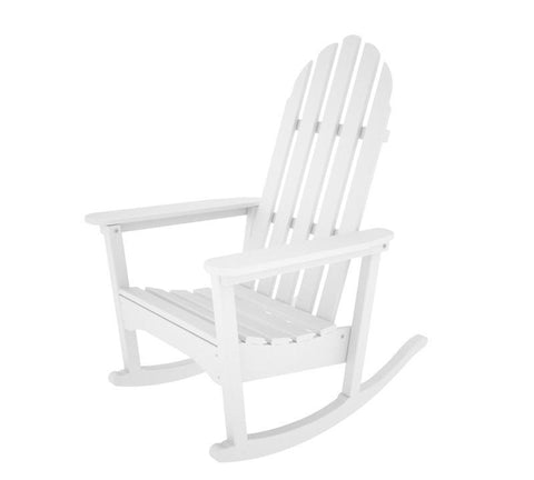 Polywood ADRC-1WH Classic Adirondack Rocker in White - PolyFurnitureStore