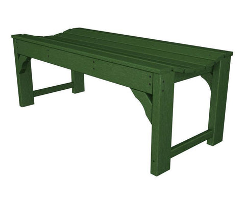 "Polywood BAB148GR Traditional Garden 48"" Backless Bench in Green - PolyFurnitureStore"