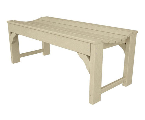 "Polywood BAB148SA Traditional Garden 48"" Backless Bench in Sand - PolyFurnitureStore"