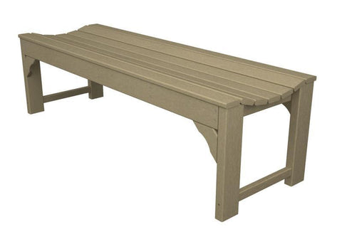 "Polywood BAB160SA Traditional Garden 60"" Backless Bench in Sand - PolyFurnitureStore"