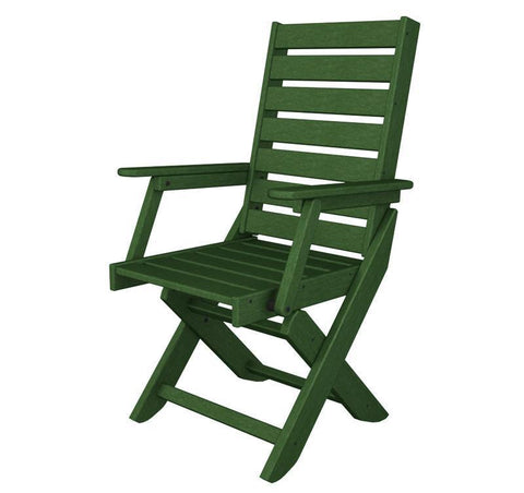 Polywood CC4423-1GR Captain Dining Chair in Green - PolyFurnitureStore