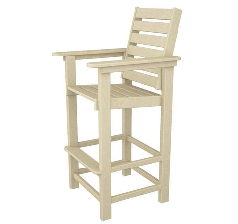 Polywood CCB30SA Captain Bar Chair in Sand - PolyFurnitureStore