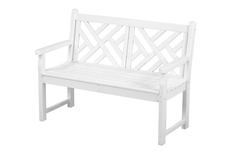 Chippendale Bench White 4636 Product Photo
