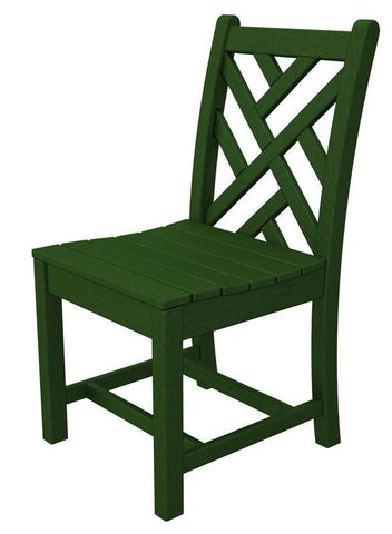 Polywood CDD100GR Chippendale Dining Side Chair in Green - PolyFurnitureStore