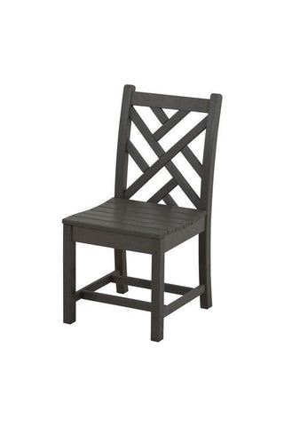 Polywood CDD100GY Chippendale Dining Side Chair in Slate Grey - PolyFurnitureStore