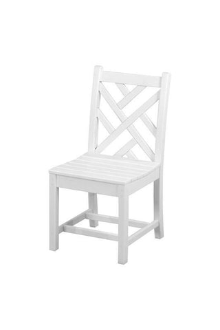 Polywood CDD100WH Chippendale Dining Side Chair in White - PolyFurnitureStore