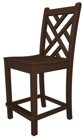 Polywood CDD101MA Chippendale Counter Side Chair in Mahogany - PolyFurnitureStore