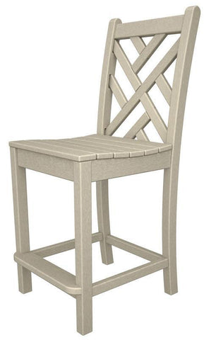 Polywood CDD101SA Chippendale Counter Side Chair in Sand - PolyFurnitureStore