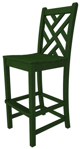 Polywood CDD102GR Chippendale Bar Side Chair in Green - PolyFurnitureStore
