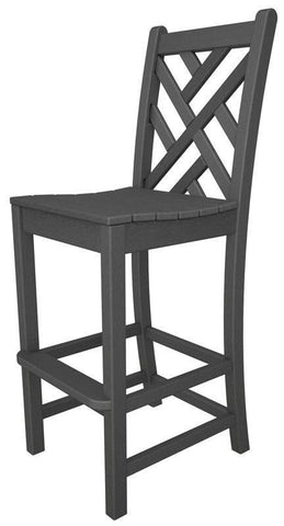 Polywood CDD102GY Chippendale Bar Side Chair in Slate Grey - PolyFurnitureStore