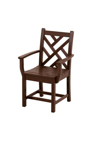 Polywood CDD200MA Chippendale Dining Arm Chair in Mahogany - PolyFurnitureStore