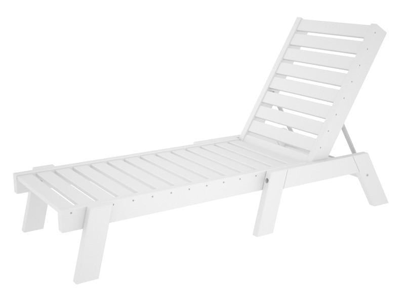 Polywood Chaise White Captain