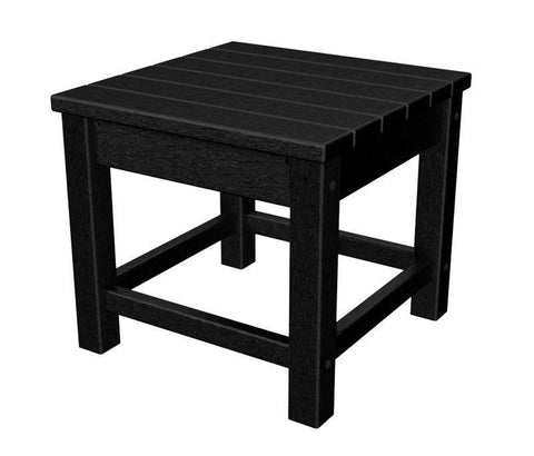 "Polywood CLT1818BL Club 18"" Side Table in Black - PolyFurnitureStore"
