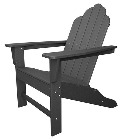 Polywood ECA15GY Long Island Adirondack in Slate Grey - PolyFurnitureStore