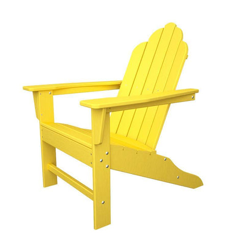 Polywood ECA15LE Long Island Adirondack in Lemon - PolyFurnitureStore