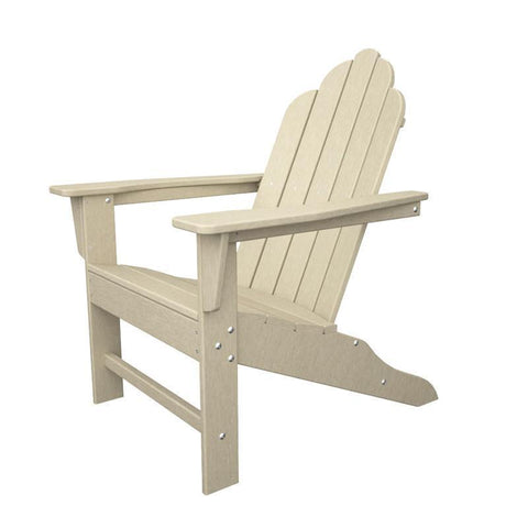 Polywood ECA15SA Long Island Adirondack in Sand - PolyFurnitureStore